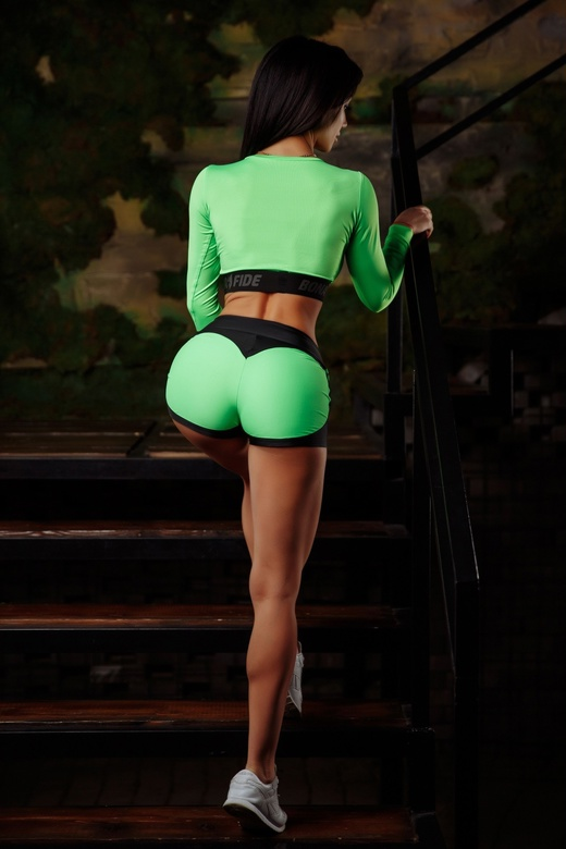 "Шорты Mega Shorts ""Acid Green & Black"""